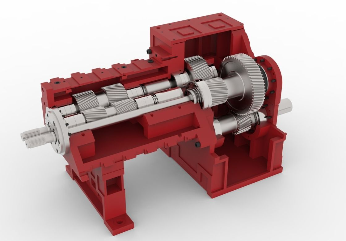 Plastic Extruder Variable Speed Gearbox / Axis Parallel Shaft Gearbox